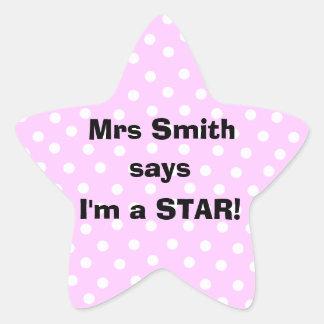 Personalizable Teacher stickers -  I'm a star