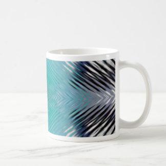 Personalizable Teal Black Optical Blur Illusion Coffee Mug