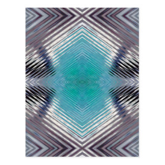Personalizable Teal Black Optical Blur Illusion Postcard