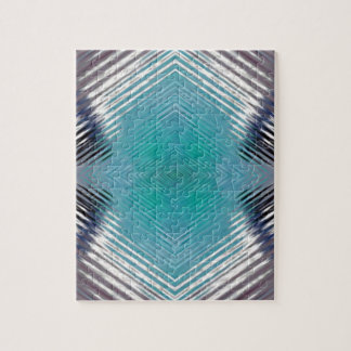 Personalizable Teal Black Optical Blur Illusion Puzzles