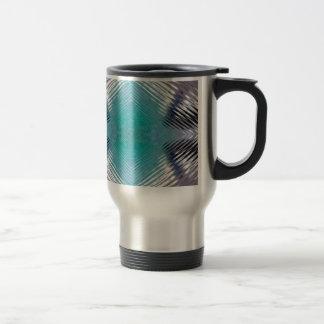 Personalizable Teal Black Optical Blur Illusion Travel Mug