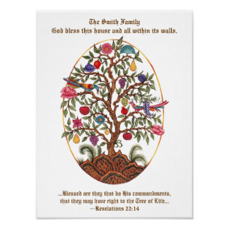 Personalizable Tree of Life Poster
