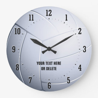 Personalizable Volleyball | Sport Gifts Large Clock