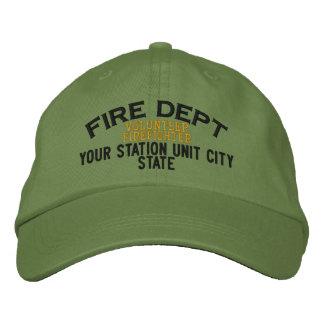 Personalizable Volunteer Firefighter Hat Baseball Cap