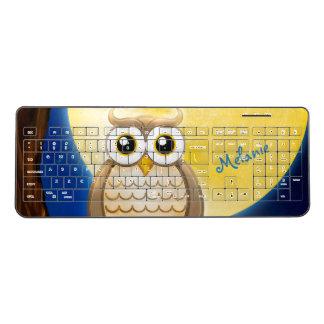 Personalizable Wise Owl Wireless Keyboard