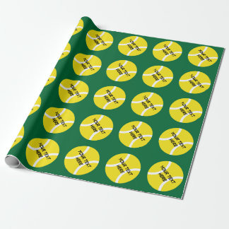 Personalizable wrapping paper with tennis balls