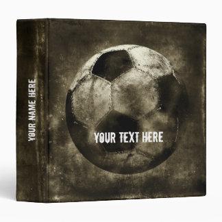 Personalizablev Grunge Soccer Vinyl Binder