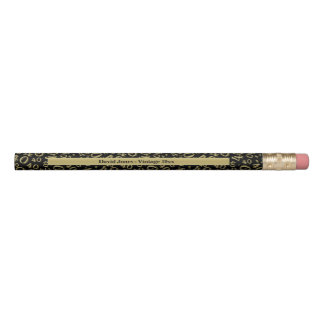 Personalize 40th Gold/Black Birthday Favor Gift Pencil