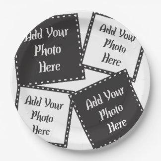 "Personalize 4 Photos 9"" Paper Plates"