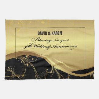 Personalize, 50th Wedding Anniversary Religious Kitchen Towel