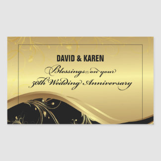 Personalize, 50th Wedding Anniversary Religious Sticker