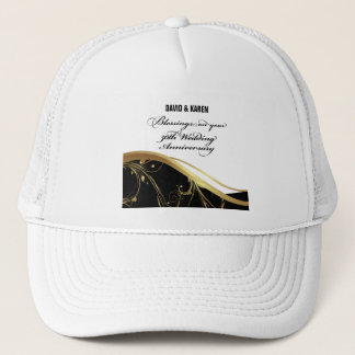 Personalize, 50th Wedding Anniversary Religious Trucker Hat
