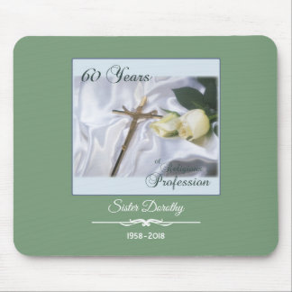 Personalize, 60 Years of Religious Profession Mouse Pad