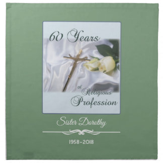 Personalize, 60 Years of Religious Profession Napkin