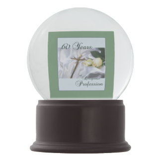 Personalize, 60 Years of Religious Profession Snow Globe
