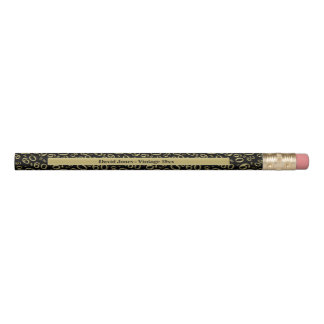 Personalize 60th Gold/Black Birthday Favor Gift Pencil