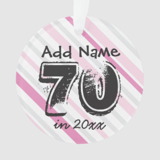 Personalize 70th Birthday PINK