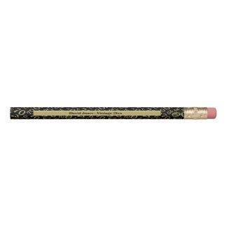 Personalize 70th Gold/Black Birthday Favor Gift Pencil
