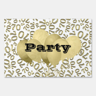 Personalize:  70th White and Gold Birthday Party