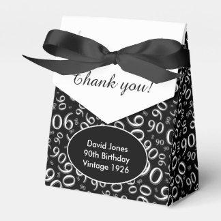 Personalize: 90th Birthday Theme Black/White Favor Box