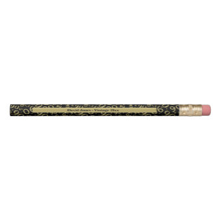 Personalize 90th Gold/Black Birthday Favor Gift Pencil