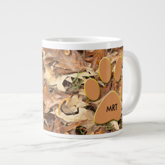 Personalize:  Abstract Nature Photo Autumn Camo Large Coffee Mug