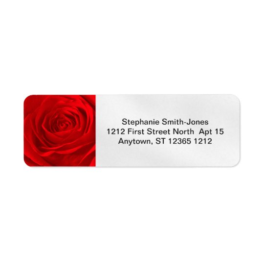 Personalize: Abstract Red Rose Floral Photography