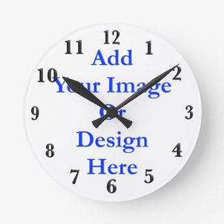 (Personalize) Add a personal touch. Black Numbers Clocks
