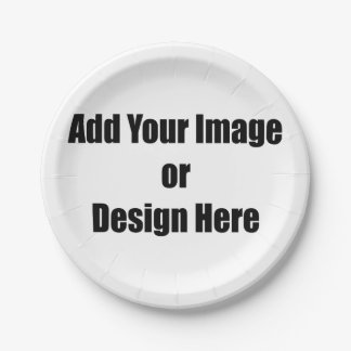 "(Personalize) Add ""Your"" personal touch. 7 Inch Paper Plate"