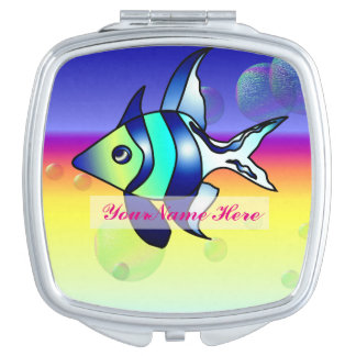 Personalize Angelfish Compact Mirror
