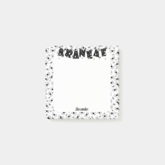 Personalize: ARANEAE Typography Halloween Spiders Post-it Notes