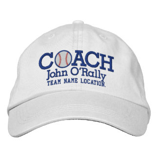 Personalize Baseball Coach Cap Name  n Team