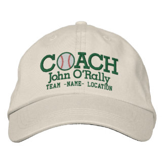 Personalize Baseball Coach Cap Name  n Team Embroidered Hat