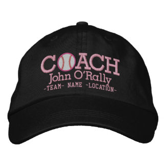 Personalize Baseball Coach Cap Name  n Team Embroidered Baseball Cap