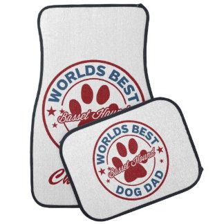 Personalize Basset Hound Worlds Best Dog Dad Car Liners