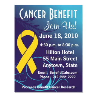 Personalize Benefit  - Childhood Cancer Flyer