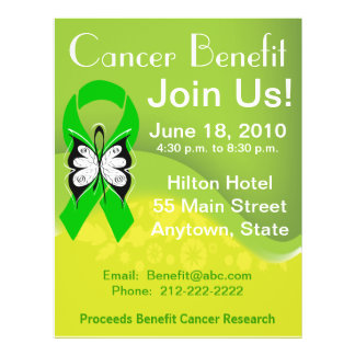 Personalize Bile Duct Cancer Fundraising Benefit Custom Flyer
