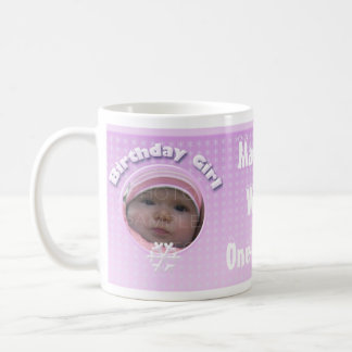 Personalize Birthday Girl Winter Onederland mug