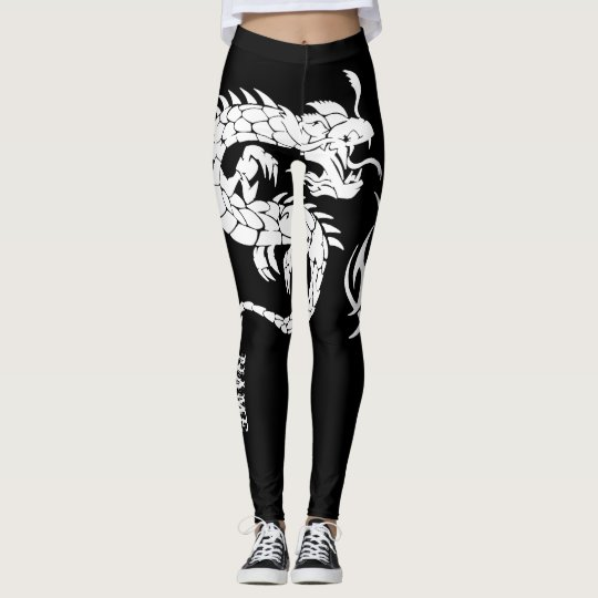 + Personalize Black and White Tribal Leggings