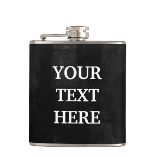 Personalize Black Chalkboard Hip Flask