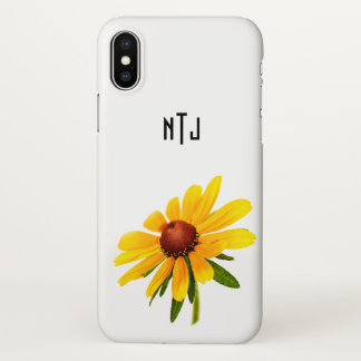 Personalize: Black-Eyed Susan Floral Photography iPhone X Case