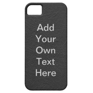 Personalize Black Leather iPhone 5 Covers