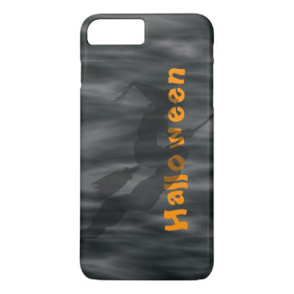 Personalize:  Black Witch on Halloween Fog iPhone 8 Plus/7 Plus Case