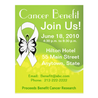 Personalize Bone Cancer Fundraising Benefit Flyers