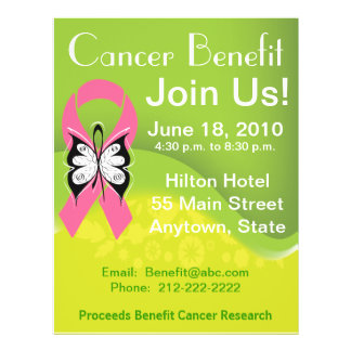 Personalize Breast Cancer Fundraising Benefit Flyer