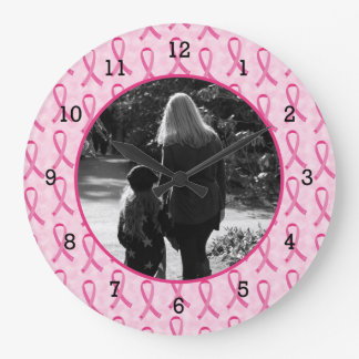 Personalize Breast Cancer Memorial Large Clock