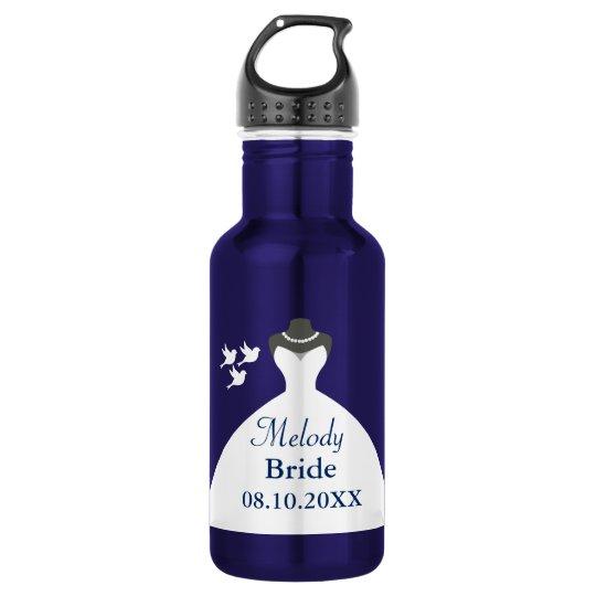 Personalize Bride Wedding Gown 532 Ml Water Bottle