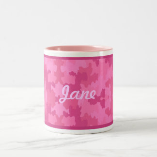 Personalize Bright Pink Camouflage Mug