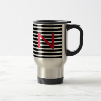 Personalize BW Metal Travel Coffee Mug