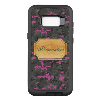 Personalize - Camouflage with Pink OtterBox Defender Samsung Galaxy S8+ Case